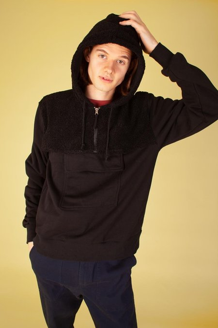 L.F.Markey Glendon Sweatshirt - Black Sherpa