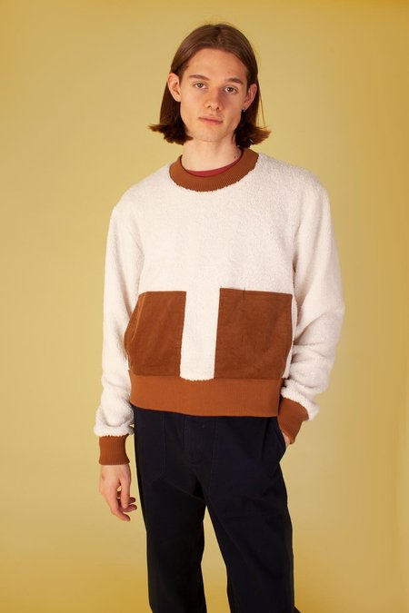 L.F.Markey Nooroo Sweatshirt Sherpa - brown