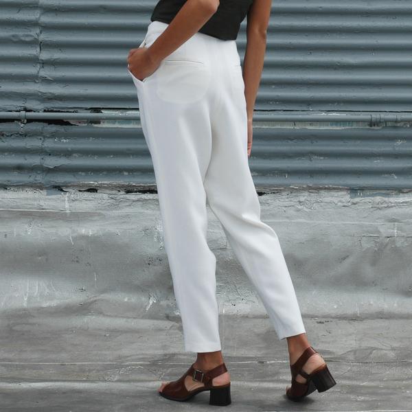Nikki Chasin  Luz Wool Crepe Trouser - Cream