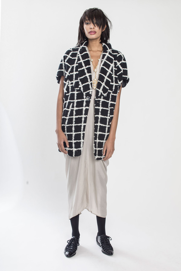 KURT LYLE Jasper Dolman fold jacket in Grid