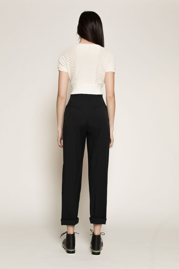 H. Fredriksson Onzu Pant in Ink Cupro/Cotton