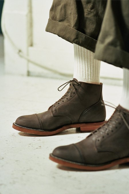 Viberg Calf Service Boot - Dust Brown