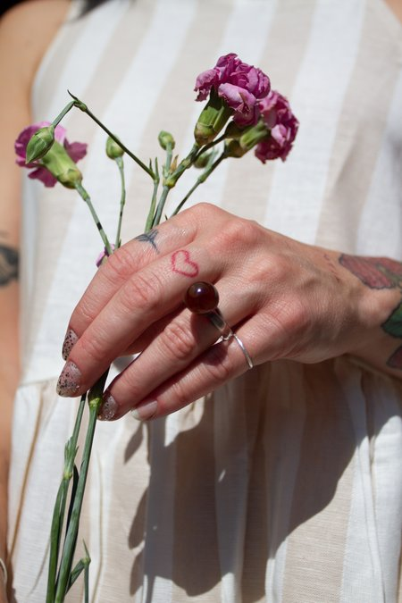 JANE D'ARENSBOURG Glass Orb Ring - Tortoise