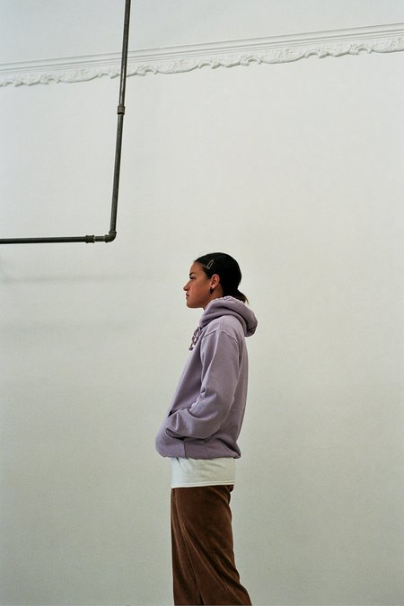 UNISEX Calculus Recycled Cotton Garment Dyed Hoodie - Lavender