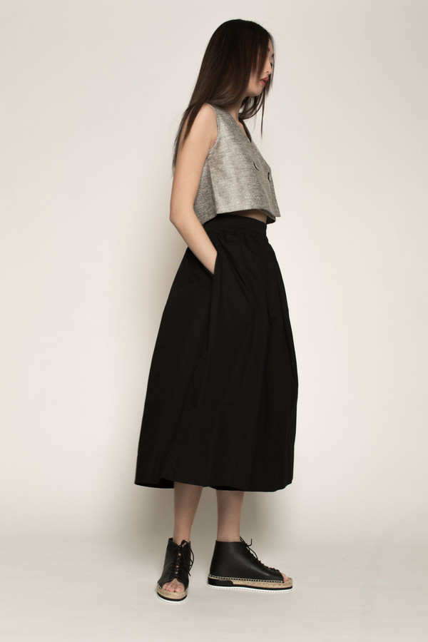 Kowtow Things in Common Culottes in Black