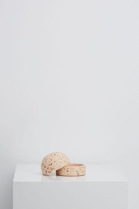 Capra Designs Terrazzo Dome Keepsake Box - Salt Terrazzo