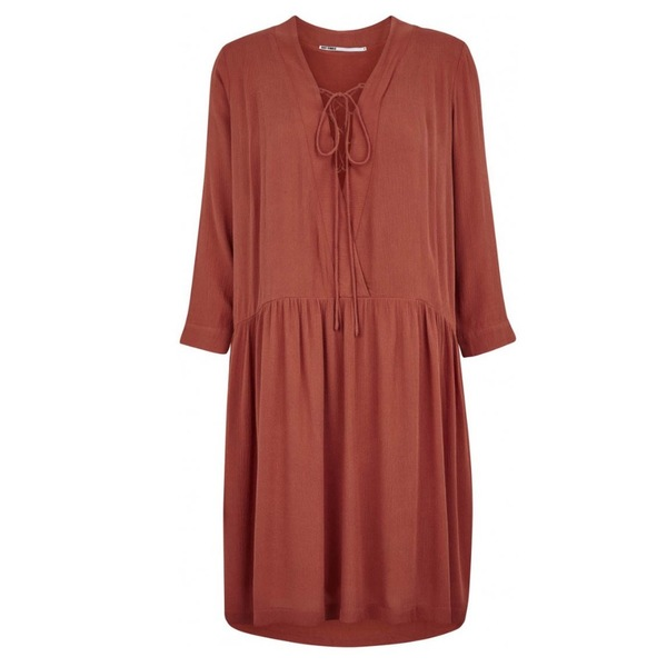 Just Female Canyon Dress - Marsala Red (Rust)