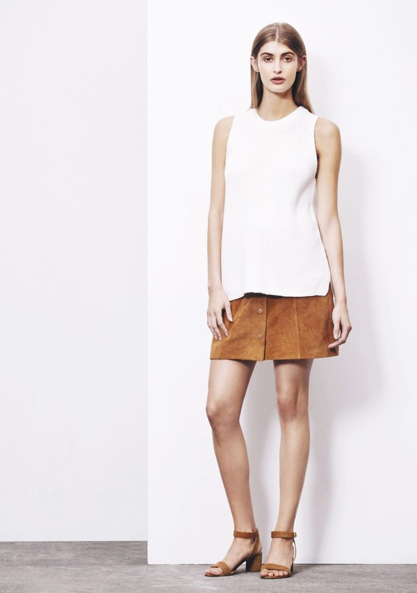Just Female Fer Suede Skirt - Tan