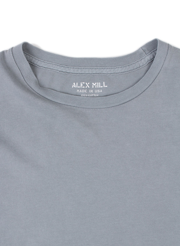 Men's Alex Mill Simple Tee Smokey Blue
