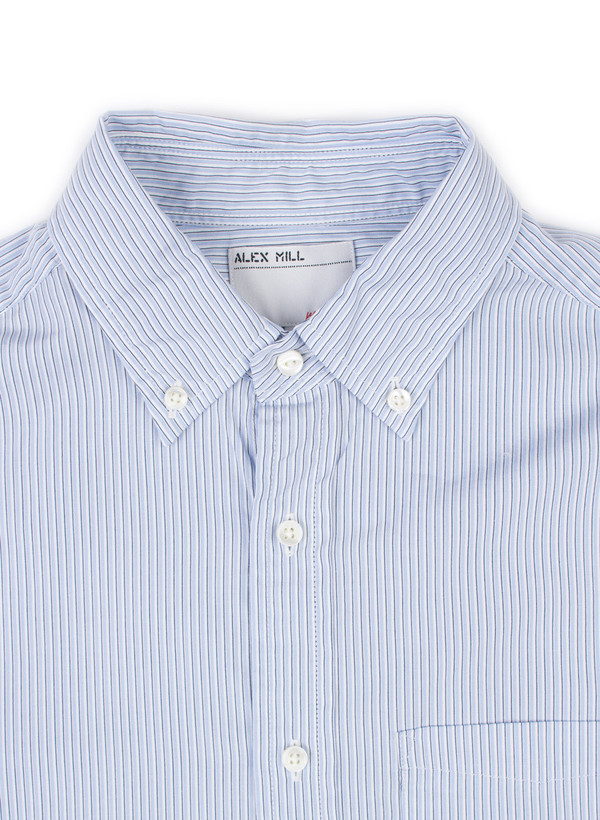 Men's Alex Mill Stripe School Shirt Blue/Navy/White