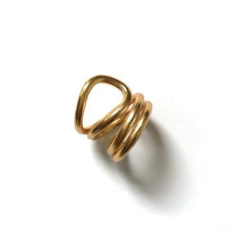 Haarstick Twist Ring - Gold