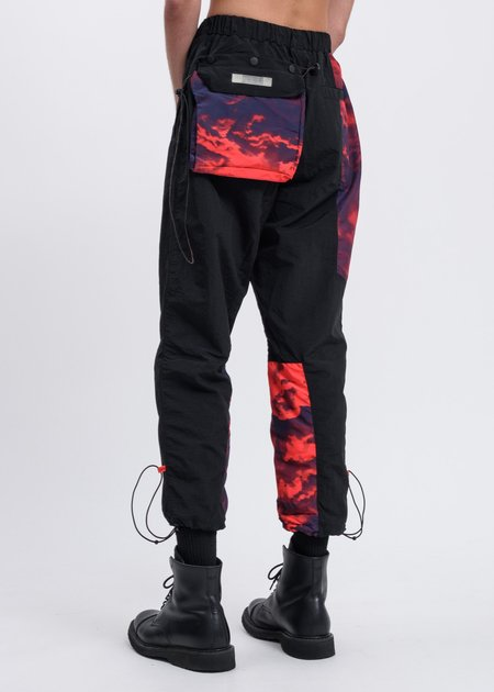 Black Lux Clouds Track Pant - Black