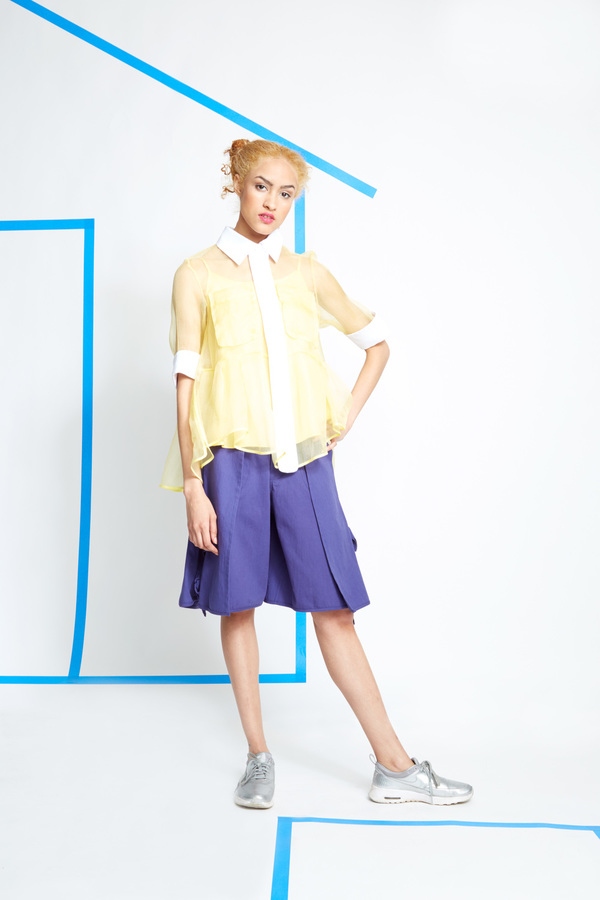 Steven Tai Pleated Shirt