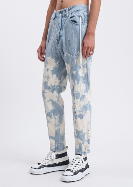 Black Lux Splatter Denim Jenas - BLUE