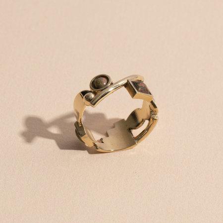 Lindsay Lewis Shapes Ring - Brass