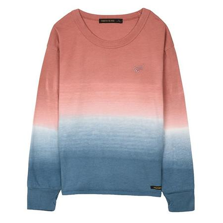 KIDS Finger In The Nose Shine Long Sleeved T-shirt - Dip Dye Old Pink And Blue