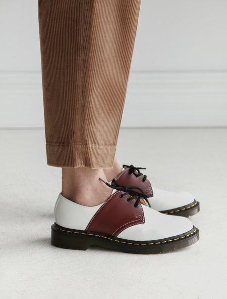 Comme des Garçons Dr. Martens Mie Saddle Shoe - Cherry/White