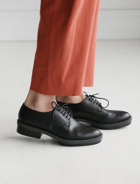 Robert Clergerie Roma Rubber Sole Oxford - black