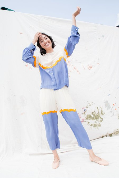 Nikki Chasin Patch Pant - Lake/Butter