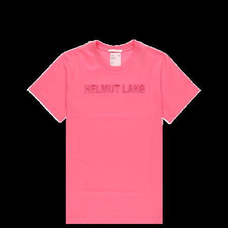 Helmut Lang Standard Embroidered T-Shirt - Prism Pink