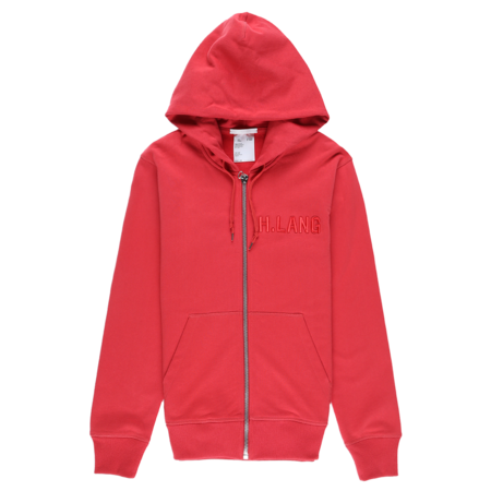 Helmut Lang Standard Zipped Hoodie - Oxidized Red