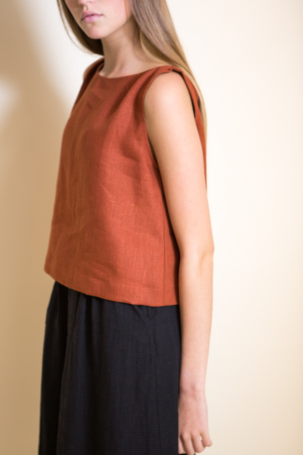 Ursa Minor Meg Top / Terracotta Linen