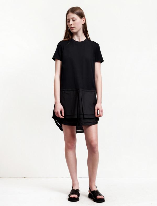 Thakoon Womens Jersey T-Shirt Dress - Black
