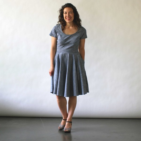 Nooworks Loretta Dress in Chambray
