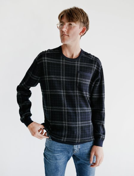 Meticulous Knitwear Hennessy LS Merino Tee - Plaid