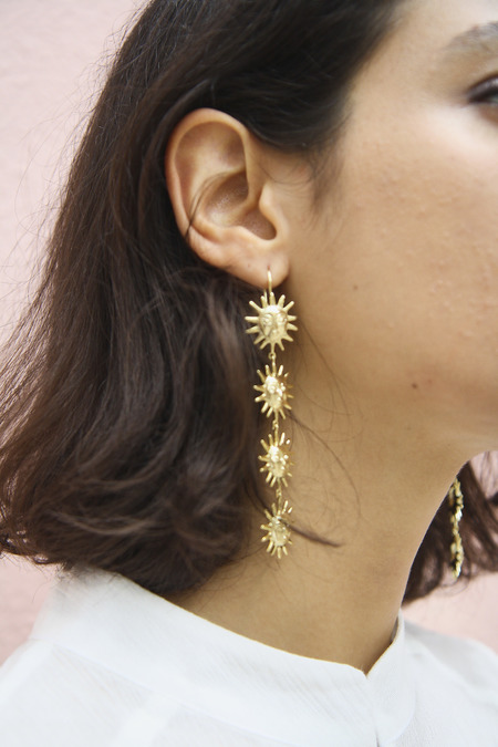 Eyland Viseu sun earrings - gold