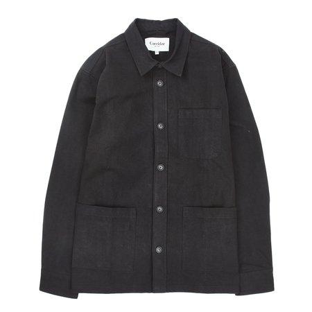 Corridor Heavy Canvas Overshirt - Black