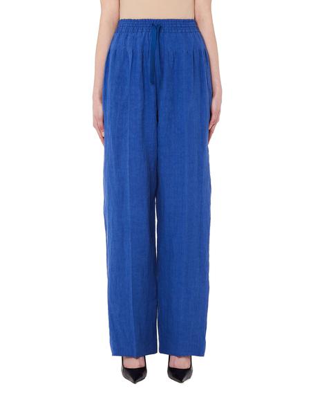 Haider Ackermann Cotton & Linen Trousers - Blue