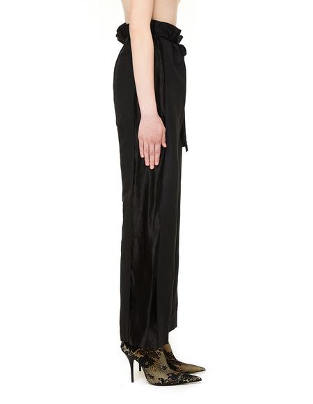 Ann Demeulemeester Black Linen Trousers