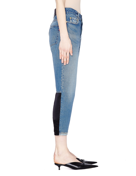 Undercover Cropped Jeans With Contrast Inserts