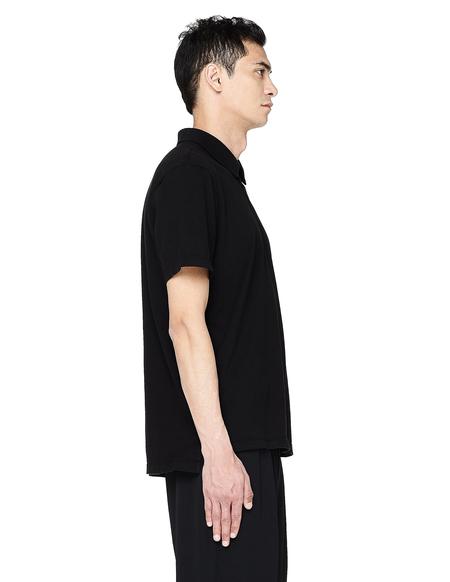 James Perse Black Cotton Polo T-Shirt