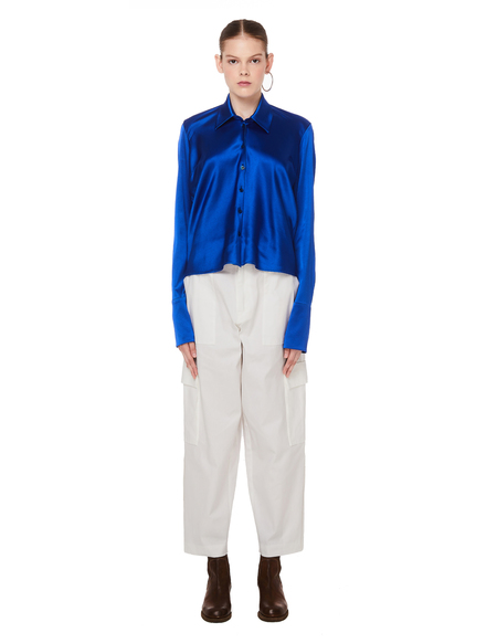 Sue Undercover Cotton Cargo Trousers - White
