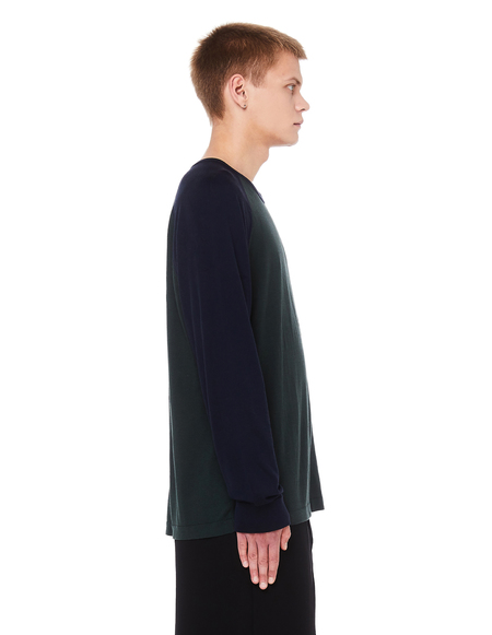 James Perse Raglan Cotton Long Sleeve T-Shirt - Dark Green
