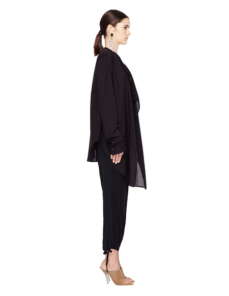 Yohji Yamamoto Black Cotton and Cupro Shirt