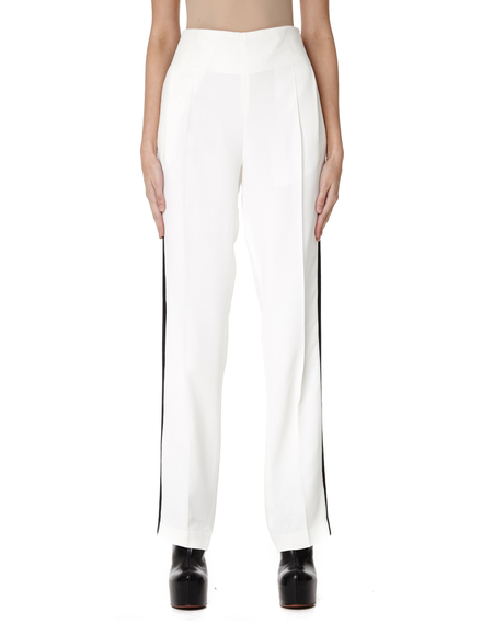 Haider Ackermann Wide Leg Striped Pants - White