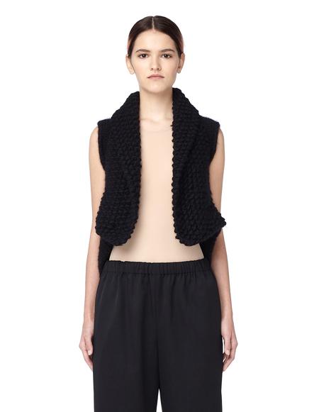 HUN Rick Owens Black Wool Vest