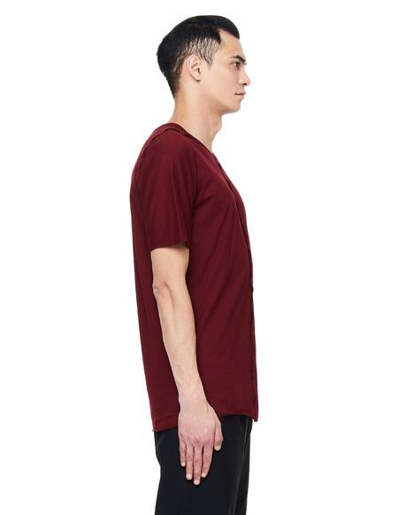 Isaac Sellam Debloque Cotton T-Shirt - Burgundy
