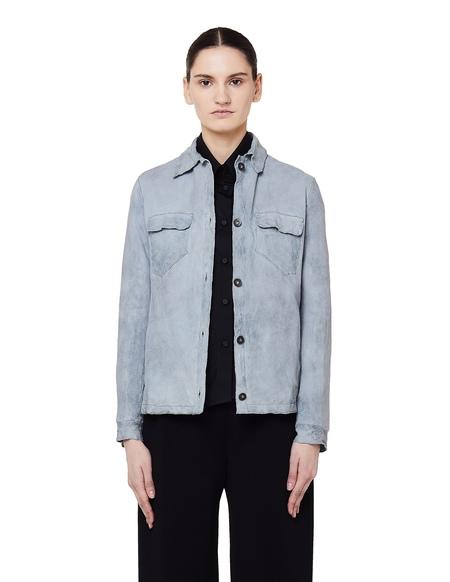 Salvatore Santoro Leather Jacket -  Light Blue