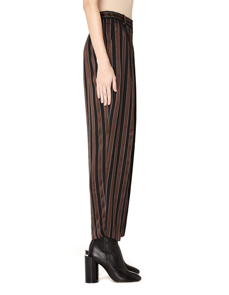 The Row Striped Viscose Trousers