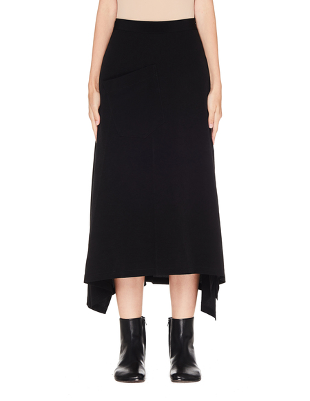Y's Black Skirt With Pocket