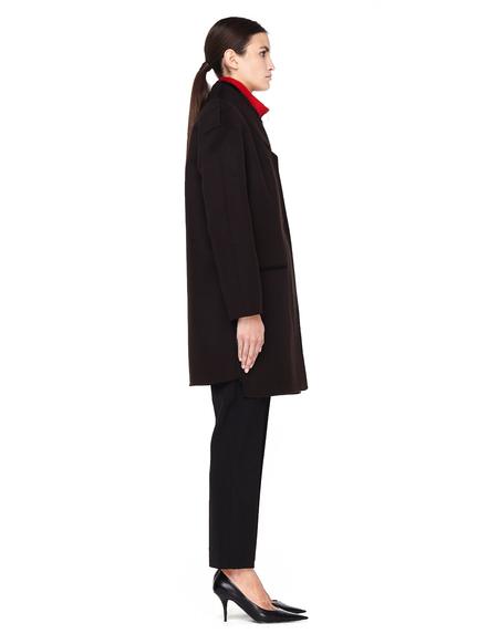32 Paradis Wool/Cashmere Coat with Fur Collar