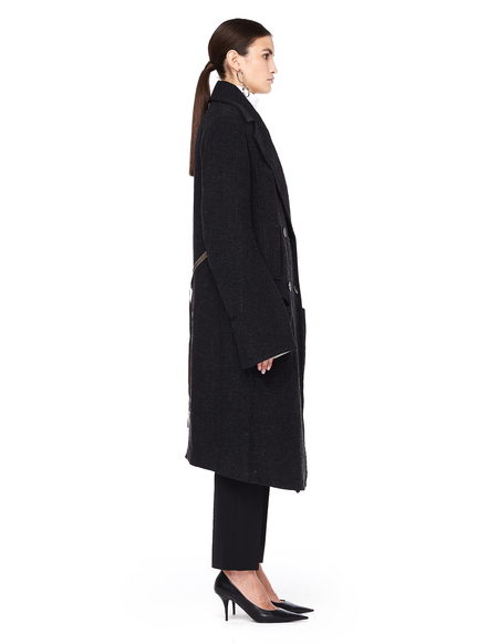 Ann Demeulemeester Oversized Double Breasted Wool-Mix Coat