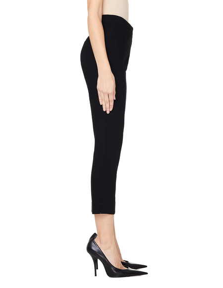 Ann Demeulemeester Black Cropped Wool Trousers