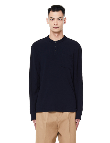 James Perse Cotton Polo Long Sleeve T-Shirt