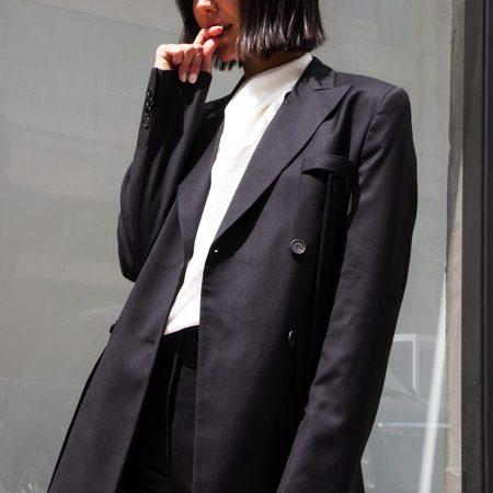 Delada Classic Half Blazer - black