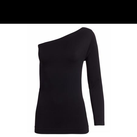 Helmut Lang Asymmetrical Seamless Jersey Long Sleeve - Black